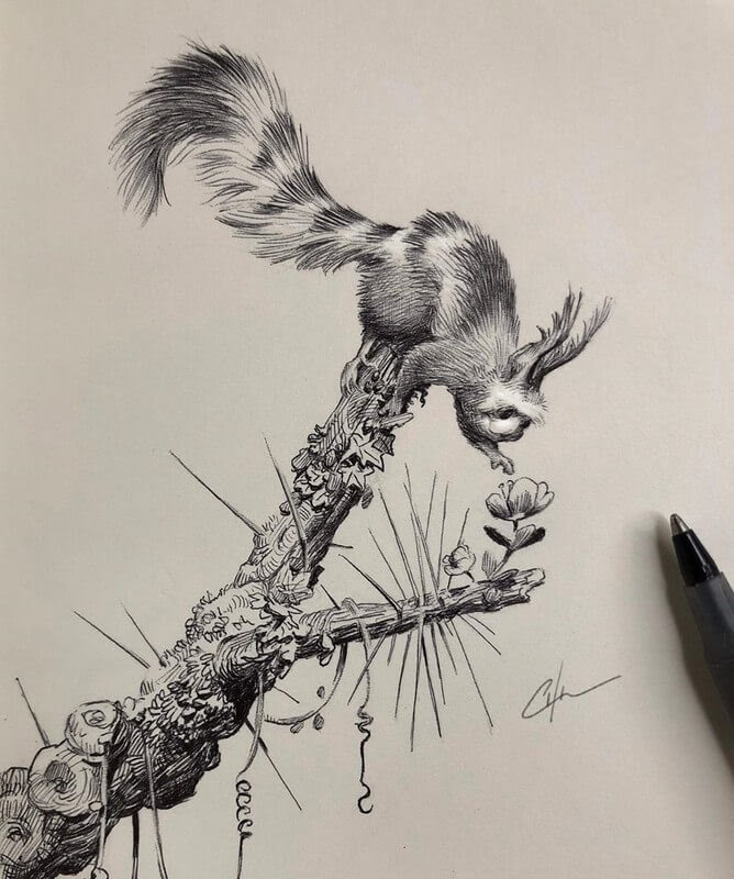 04-Bobby-Chiu-Fun-and-Cute-Ink-Fantasy-Animals-www-designstack-co