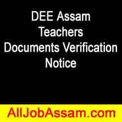 DEE Assam Documents Verification Notice 2020