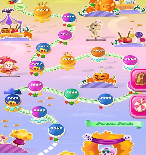 Candy Crush Saga level 5661-5675