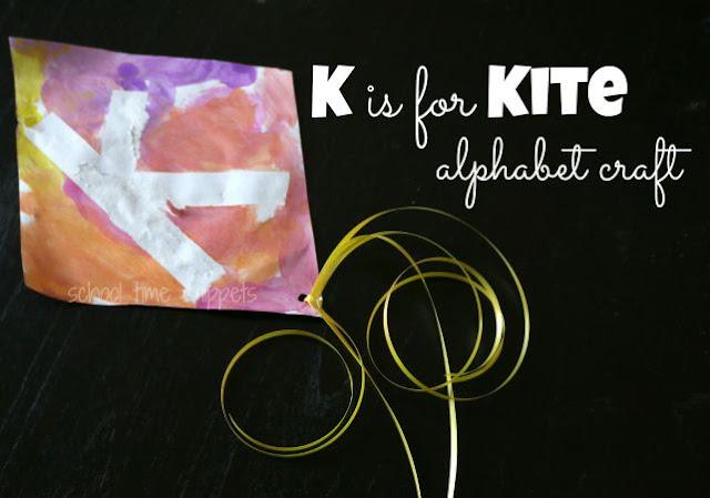 K is for Kite Preschool Alphabet Craft