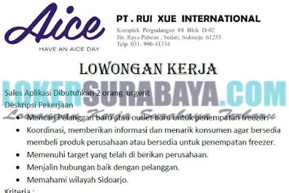 Lowongan Kerja Surabaya Juli 2019 di PT. Rui Xue International Terbaru