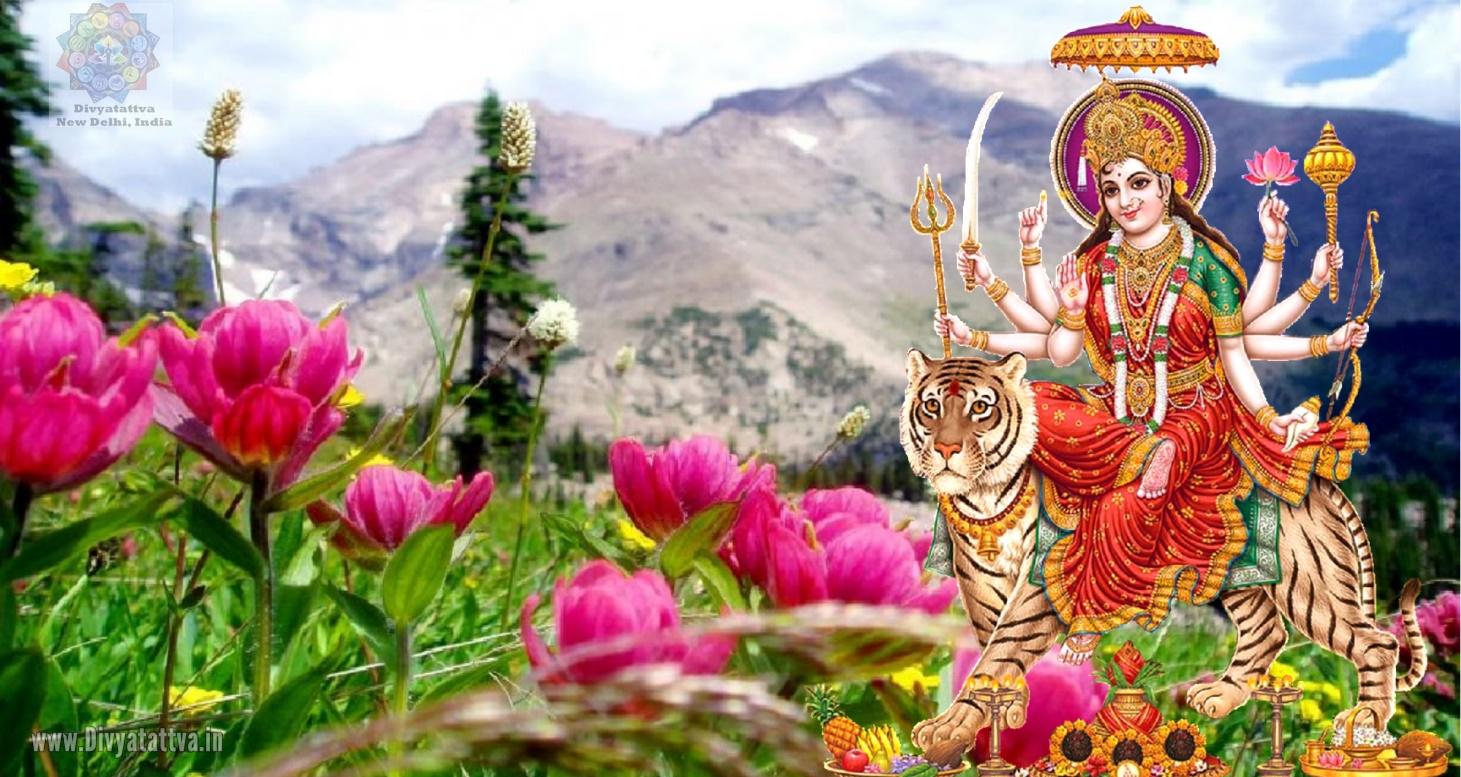 Durga Goddess 4K UHD Wallpaper, Durga Puja Images for Navratri Festival