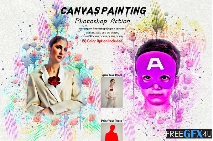Canvas Painting Photoshop Action