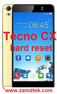 Tecno CX hard reset. Pattern removal and frp bypass