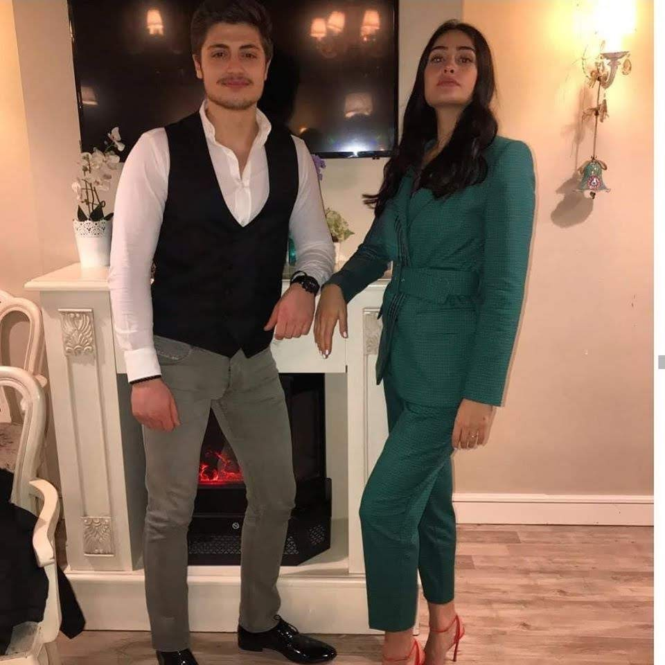 Halima Sultan( Esra Bilgic) Beautiful Clicks with her Brother Ali Bilgic