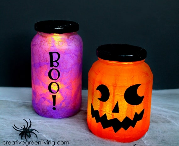 These easy to make luminaries are great for Halloween and are great to make with kids