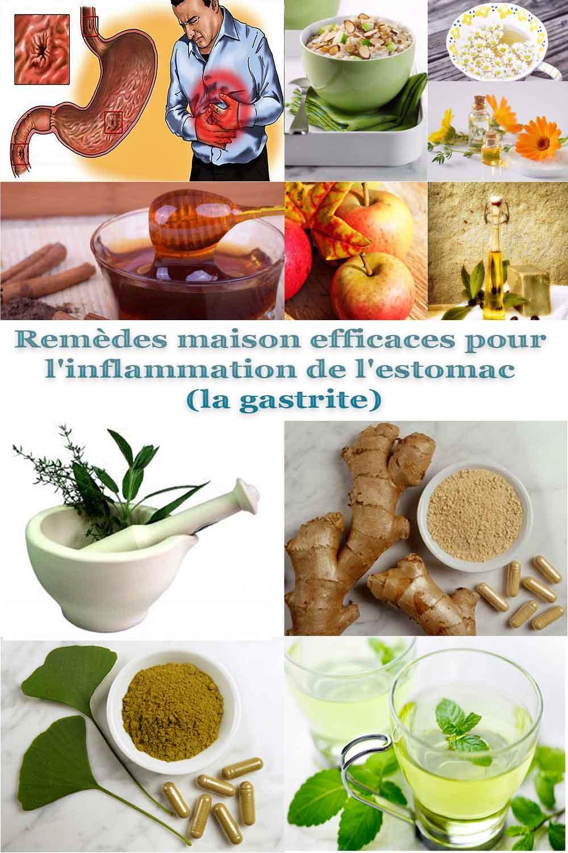 Remèdes maison efficaces pour l'inflammation de l'estomac (la gastrite)