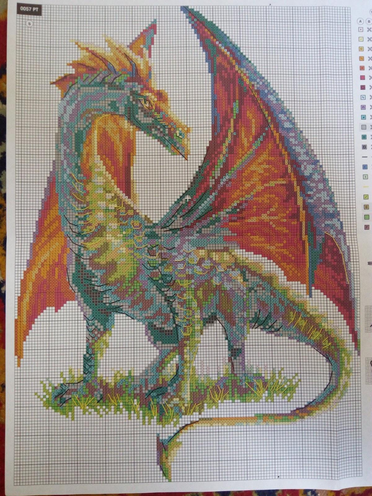 Вышивка крестом дракон схема фото 926