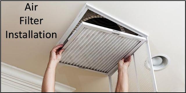 air filter installation