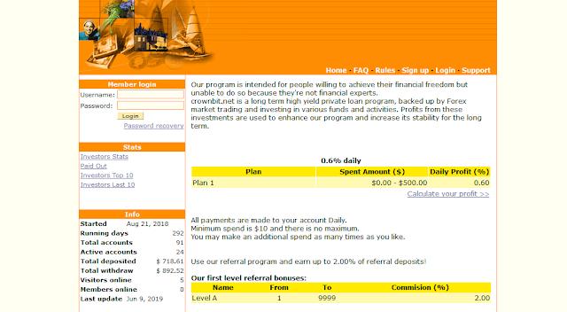 [SCAM] Мошеннический сайт crownbit.net - Отзывы, платит или лохотрон?
