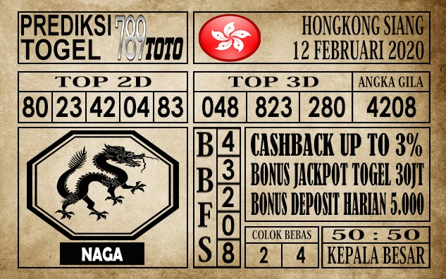Prediksi Togel Hongkong 12 Februari 2020 - Prediksi Togel 789toto