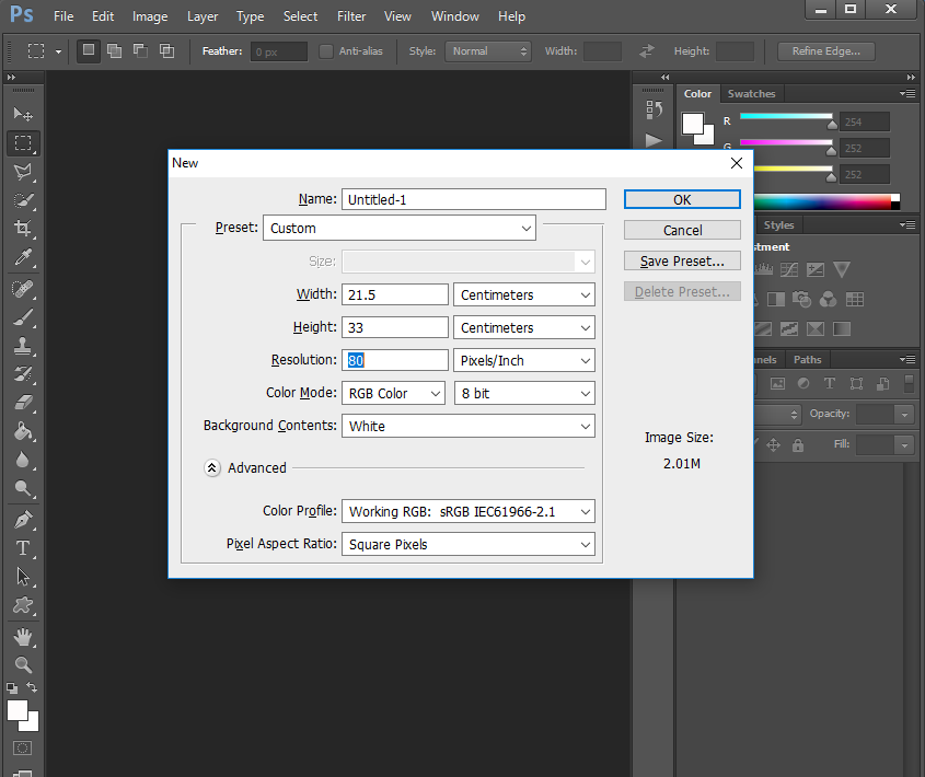 Cara Setting Ukuran Kertas A4 Dan F4 Di Photoshop Djueragan