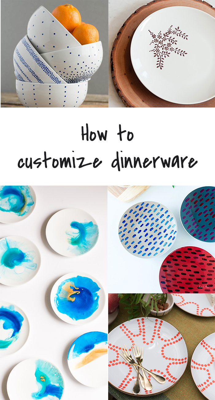 5 DIY to Try # Customized dinnerware