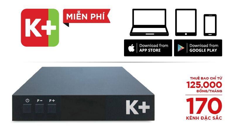 Bộ đầu thu K+ TV BOX tại Bình Tân