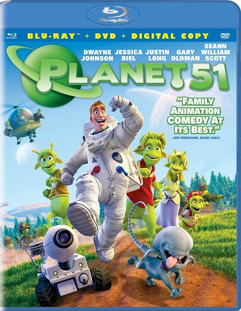 Poster Of Planet 51 2009 English 300MB BRRip 480p Free Download Watch Online