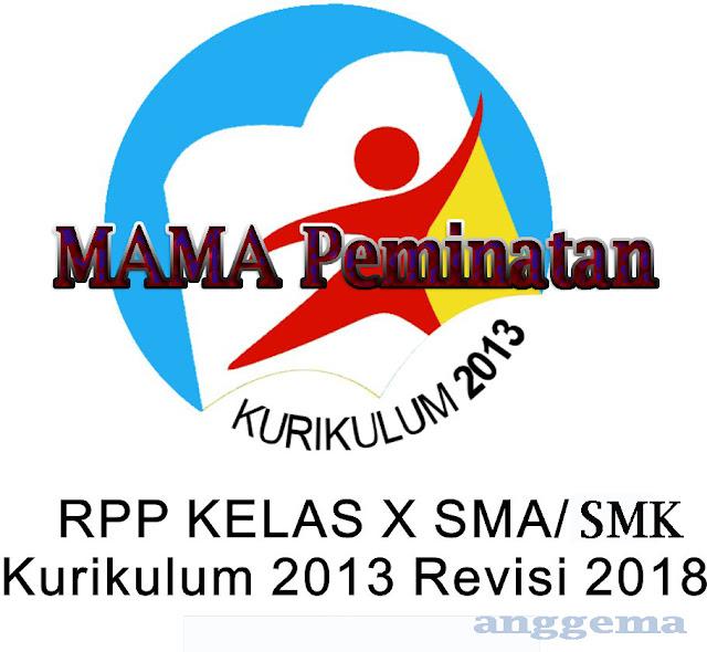 RPP Kurikulum 2013 Matematika Peminatan  Kelas XII  SMA/SMK Revisi 2018