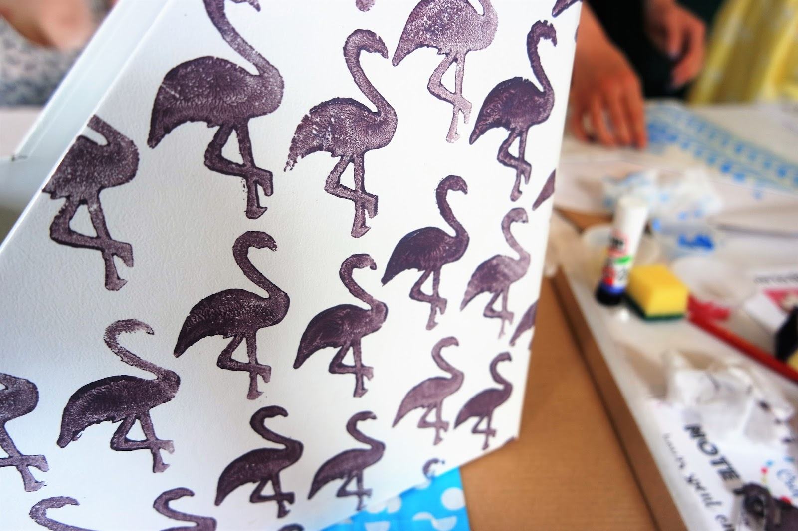 #vikingartyparty, a l'aise, stationery, bloggers, crafts, calligraphy, origami, block printing, flamingos, lumiere london