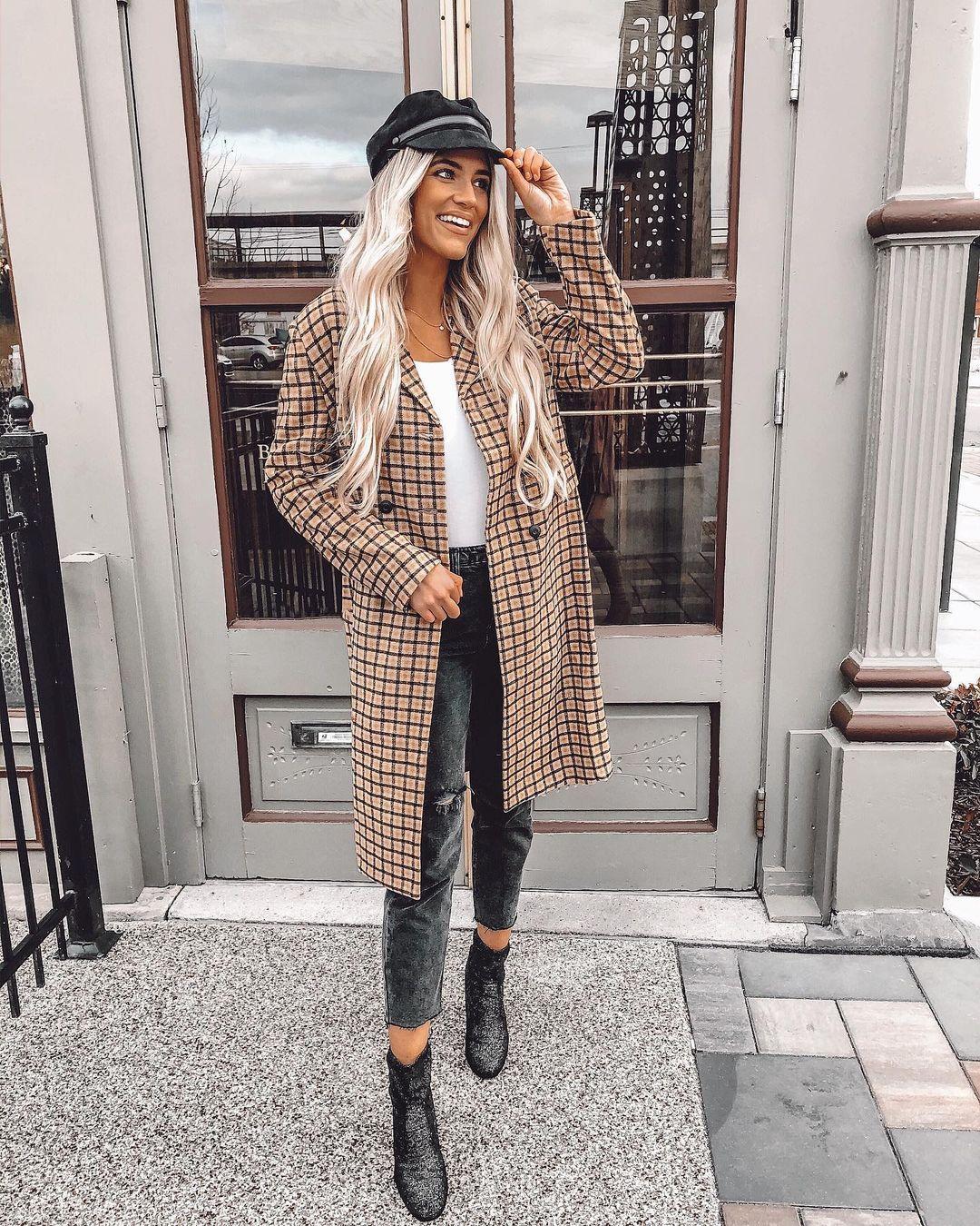 Women's Plaid & Check Winter Coats