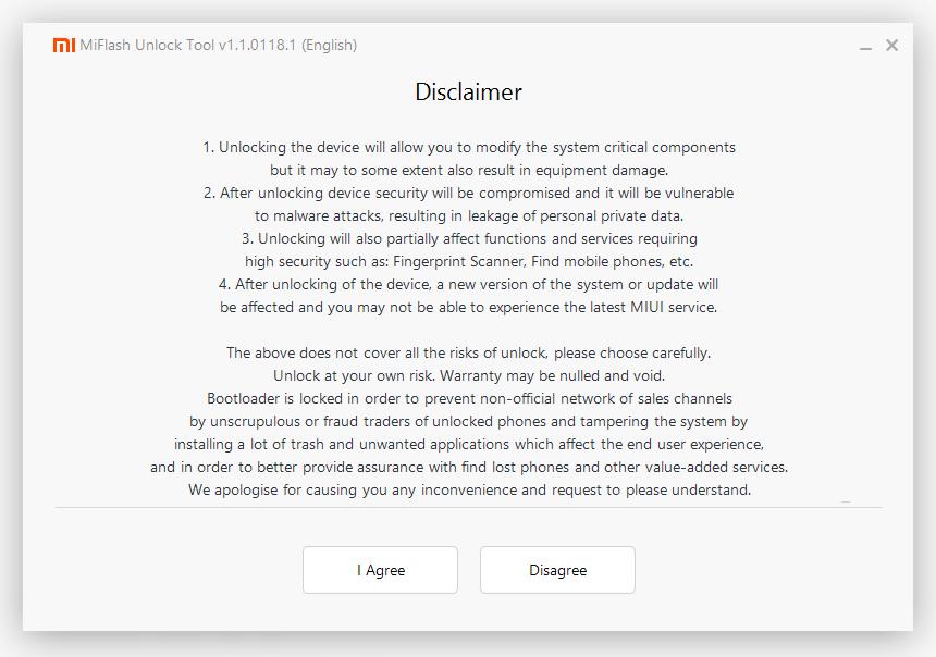 MiFlash Unlock For Xiaomi Bootloader