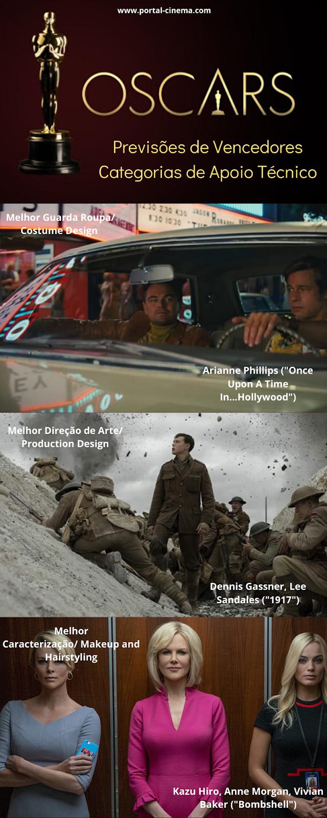 Óscares 2020 - Previsões Nas Categorias Técnicas