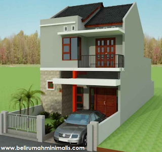 Contoh rumah minimalis sederhana type 21 2 lantai