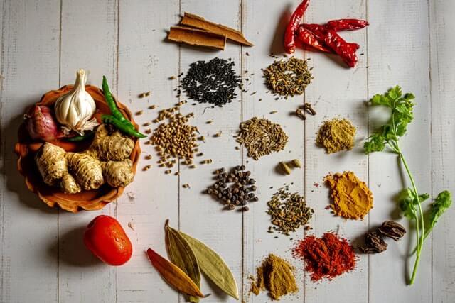 Especiarias da culinária indiana