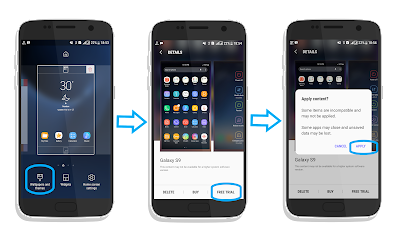 Menerapkan Tema Samsung Galaxy S9/S9+