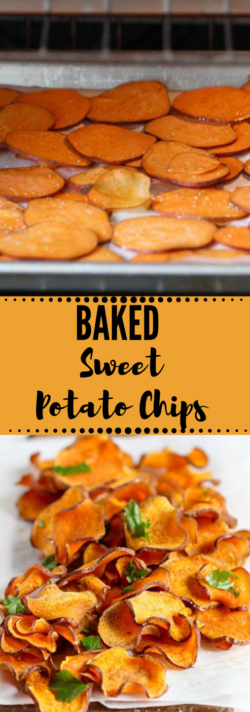 BAKED SWEET POTATO CHIPS #baked #whole30 #diet #healthy #potato