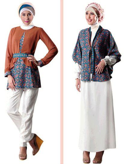 Model Baju Batik Wanita Lengan Panjang Modern