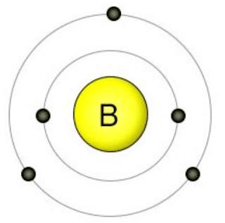 boron valence electrons