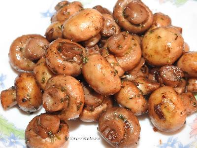 Reteta ciuperci sote la ceaun prajite cu unt usturoi si vin retete culinare garnituri cu legume,