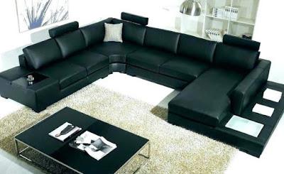 dekorasi sofa warna hitam