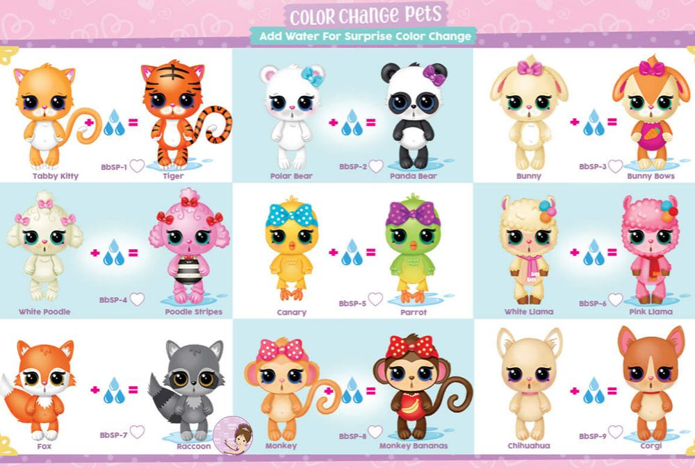 Checklist for Baby Born Surprise Pets series 1