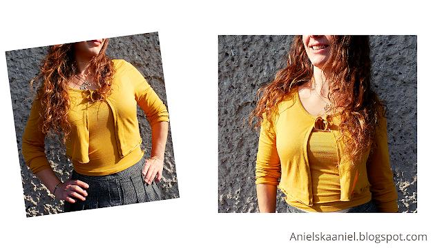 Diy | two piece set | blouse refashion |  front tie sweater  | tube top | przeróbka t-shirtu