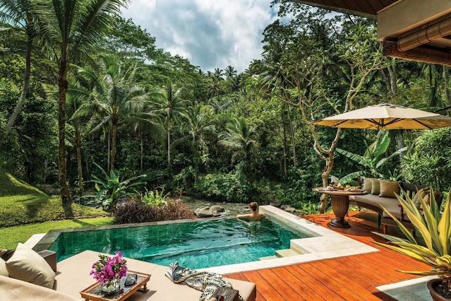 villa pemandangan hutan