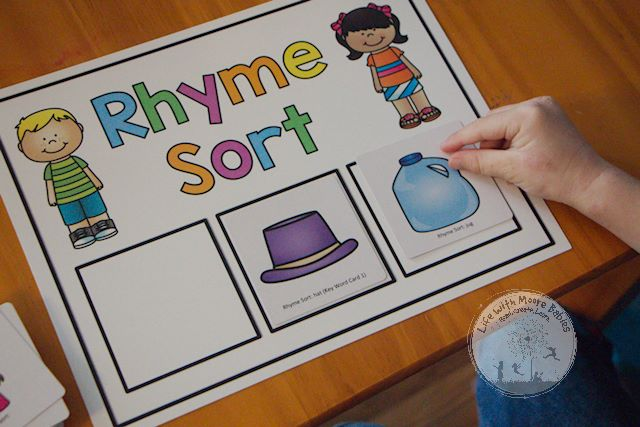 Rhyme Sort Hands-on Reading Activity