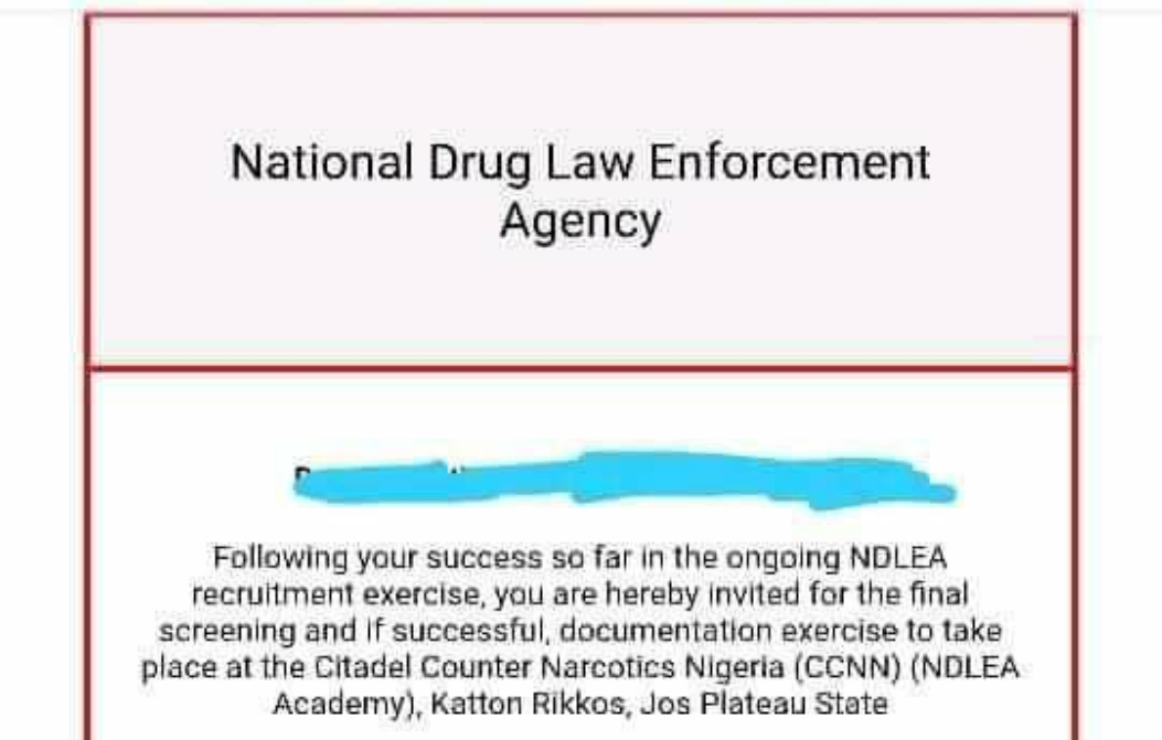 This Is The Message I Received From NDLEA