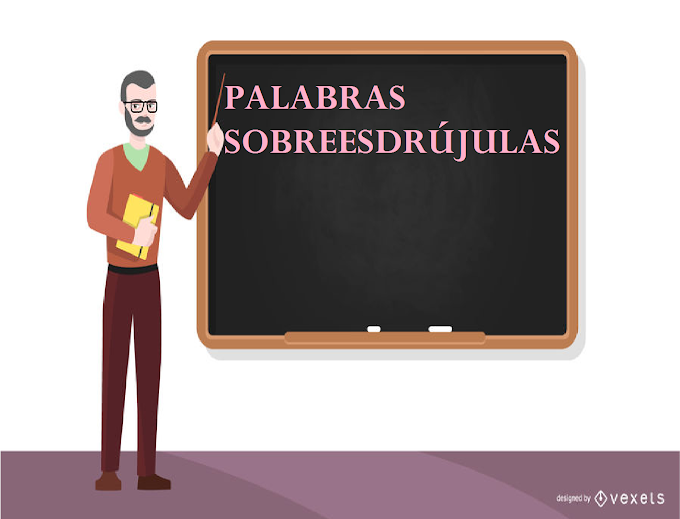 TIPOS Y  EJEMPLOS DE PALABRAS SOBREESDRUJULAS