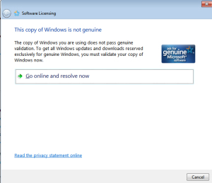 Aktivasi Windows Error Tidak Dapat Menjalankan Slui.exe