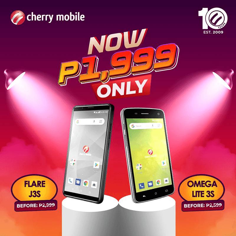 Sale Alert: Cherry Mobile price Flare J3s and Omega Lite 3s at PHP 1,999!