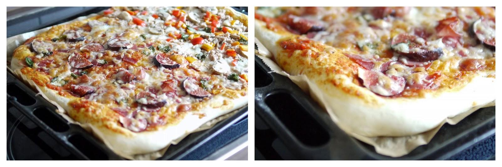 Experimente aus meiner Küche: Pizza mit selbstgemachter Tomatensoße