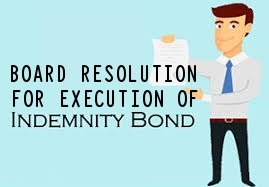 Board-resolution-execution-indemnity-bond