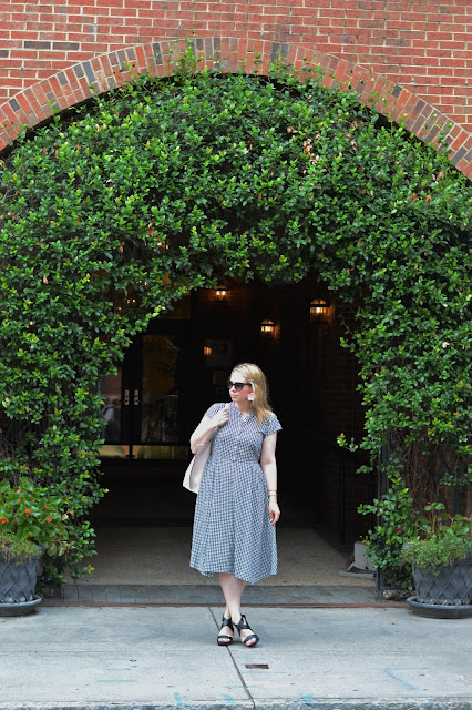 how-to-style-gingham-dress