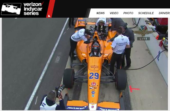 McLaren/Andretti Autosport Tests With F1 Champion Fernando