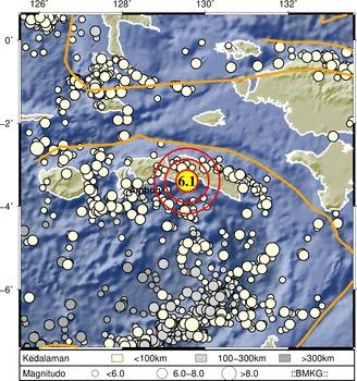Gempa Susulan Usai Magnitudo 6,1 Guncang Seram, BMKG Minta Warga Waspadai Potensi Tsunami .lelemuku.com.jpg