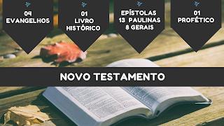 Divisão do novo tetamento em evangelho, histórico, epístolas e profético