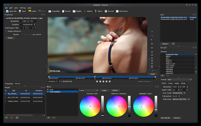 shotcut video editor linux