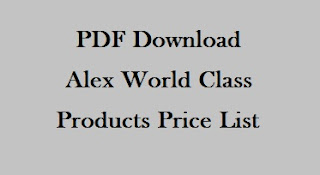 Alex World Class Products Price List