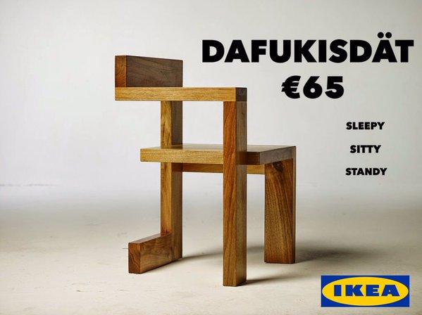 Funny IKEA DAFUKISDAT joke picture