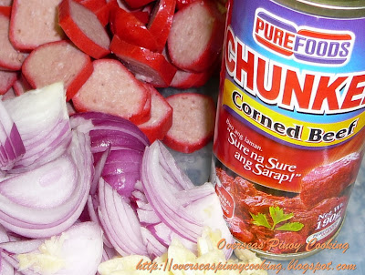 Corned Beef Sopas - Ingredients